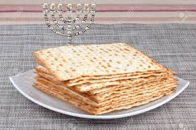 matzo unleavened bread closeup of matzah on plate which is the unleavened bread served