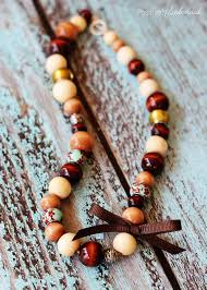bead necklace wood images Diy wood bead necklace jpg