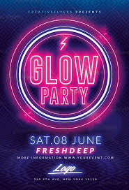 glow party glow party flyer templates psd creative flyers