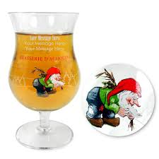 cartoon beer pint personalised engraved glasses barware ce 330ml u0027la chouffe
