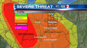 Severe Weather Map Severe Weather Possible Today Wdtn
