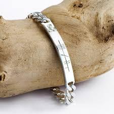 bracelet name images Sterling silver customized ogham name bracelets for men jpg