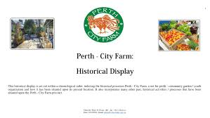cuisine am ag uip history of perth city farm display pdf available