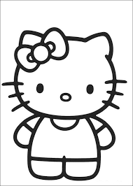 easy kitty coloring pages cartoon coloring pages