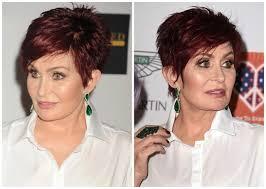 the best short haircuts for women over 50 sharon osbourne short