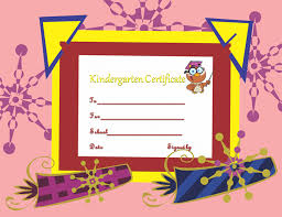 kindergarten certificates diploma certificate template
