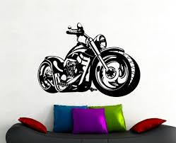 home decor wall art stickers bike wall sticker motorcycle decals home interior design room