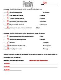 elements of poetry worksheet by laurie nelson teachers pay teachers