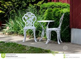 Cast Iron Patio Table And Chairs by Metal Outdoor Table And Chairs Stock Photo Image 32257610