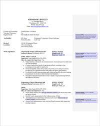 Federal Resume Templates 10 Federal Resume Template Word Resume Template Info