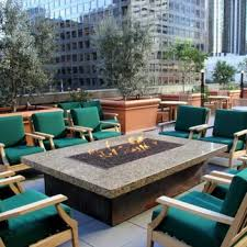 Firepit Patio Table by Rooftop Patio With Bar Height Fire Pit Table Patio Design Ideas
