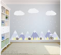 Baby Wall Decals For Nursery by Mountain Wall Decals Wall Decals Nursery Baby Wall Decal