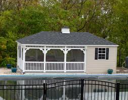 vinyl rectangle pool houses pool houses by style