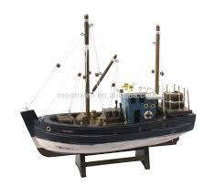 decoration de bateau de pêche en bois modèle de bateau trawler modèle souvenir