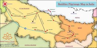 Bhopal India Map by Buddhist Pilgrimage Tours In India Buddhist Pilgrimage Tour Map