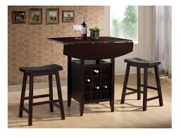 Drop Leaf Pub Table 3 Drop Leaf Pub Set With Wine Rack Bobbie Jo S One Stop Shop