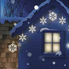 snowflake string of lights 9ct warm white snowflake string lights christmas decor