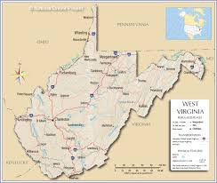 Eastern Half Of United States Map by Reference Map Of West Virginia Usa Nations Online Project