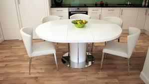 esstisch oval ausziehbarer esstisch in weiß bringt puristischen look und raffinesse