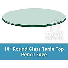 42 inch glass table top appealing round glass table top in amazon com 18 3 8 thick pencil