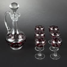 bicchieri boemia decanter e sei bicchieri in cristallo di boemia expertissim