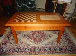 hand made chess cribbage coffee table by hitchcock construction