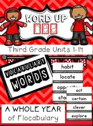 third grade flocabulary words units 1 14 by teaching and coffee tpt
