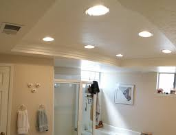 exellent fluorescent bathroom lighting with square canopy inside decor