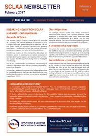sclaa february newsletter 2017 by supply chain u0026 logistics