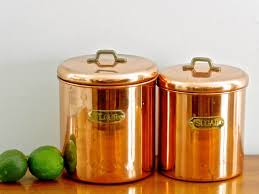 copper canisters kitchen copper flour kitchen canisters kitchen canisters for goods