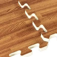 faux hardwood floor interlocking foam tiles 25 pack