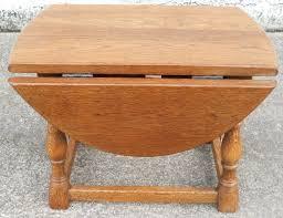 Drop Leaf Oak Table Round End Table With Drop Leaf Traditional Vintage Drop Leaf