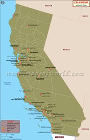 Blank Map California by Airports In California List Of Airports In California