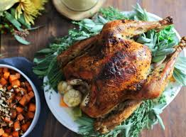 herb turkey recipes thanksgiving bacon fat and herb butter roast turkey