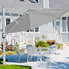 Coolaroo Umbrella Review by Outdoor Rectangular Market Umbrella Grass Umbrella Cantilever