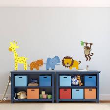 100 animal wall stickers for nursery cartoon animal wall safari animal wall stickers by mirrorin notonthehighstreet com