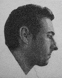 remarkable portraits made with a single sewing thread wrapped
