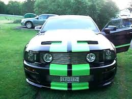 Mustang Black And Green 2006 Mustang With Paxton Supercharger Youtube
