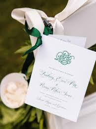 Wedding Ceremony Program Ideas Wedding Color Palette Ideas Dark Green U0026 Emerald Inside Weddings