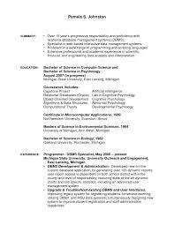 Biology Resume Exercise Science Resume Template Science Resume Template Resume