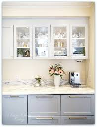 small kitchen design and decoration using diagonal mirrored tile