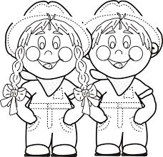 coloring pages boy funycoloring