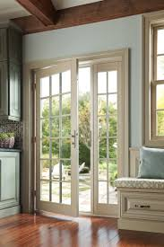 Patio Panel Pet Door by French Sliding Doors Wood Vinyl U0026 Fiberglass Milgard Windows