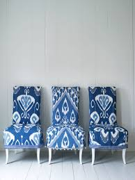 Blue And White Dining Chairs by Blue And White Ikat Chairs Via Interiors Nut My Version Of