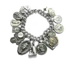 jewelry sterling charm bracelet images Religious medals charm bracelet sterling silver by shopcarousel jpg