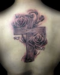 cross and roses tattoos collection