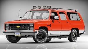 chevrolet suburban red model chevrolet suburban 1985