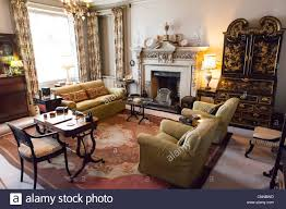 living room interior of an victorian style english manor house