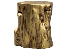 tree stump accent table signature design by ashley majaci a4000050 gold tree stump accent