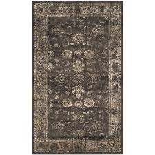 Safavieh Rug by Safavieh Vintage Oriental Soft Anthracite Distressed Silky Viscose